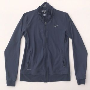 Nike Zip Up Black Jacket Size Large